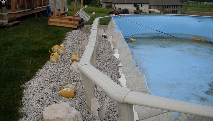 Cómo enterrar una piscina desmontable