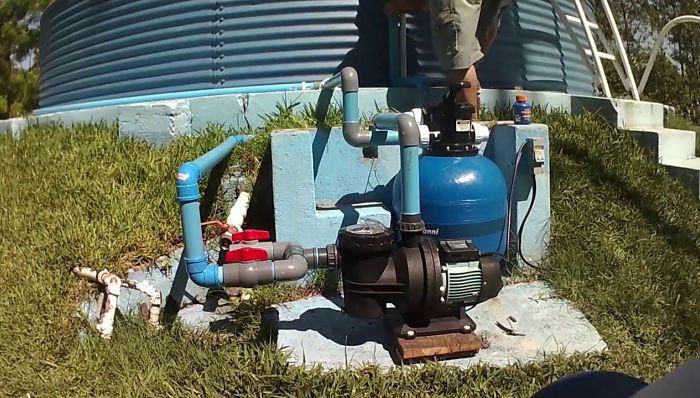 Sistema de filtración en la piscina